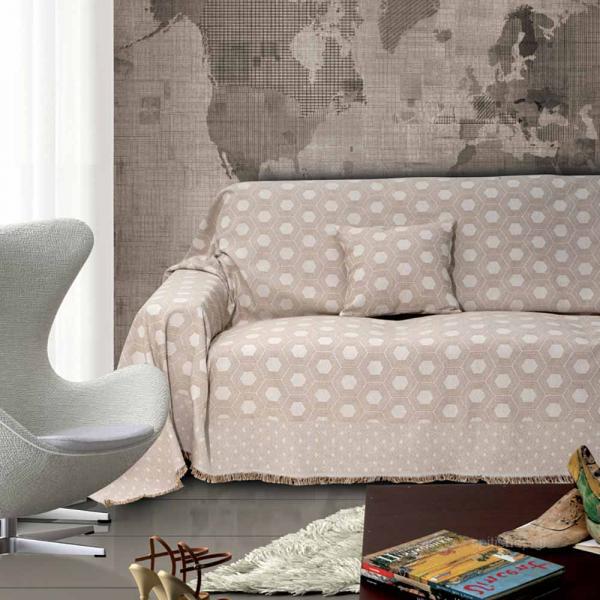 Διακοσμητική Μαξιλαροθήκη (40x40) Sb Home Linda Beige
