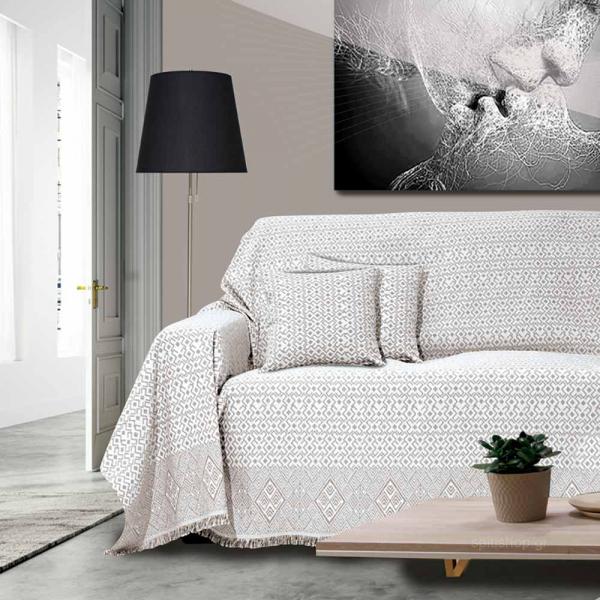 Διακοσμητική Μαξιλαροθήκη (40x40) Sb Home Marsela Taupe