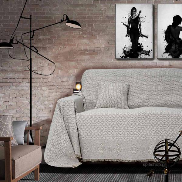 Ριχτάρι Τριθέσιου (180x300) Sb Home Marsela Grey