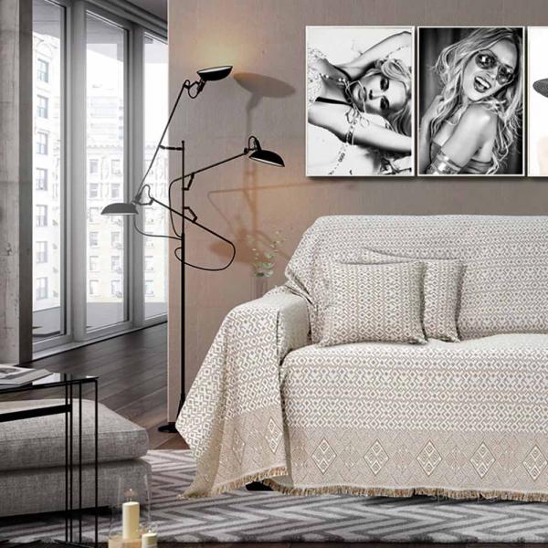 Ριχτάρι Τριθέσιου (180x300) Sb Home Marsela Beige