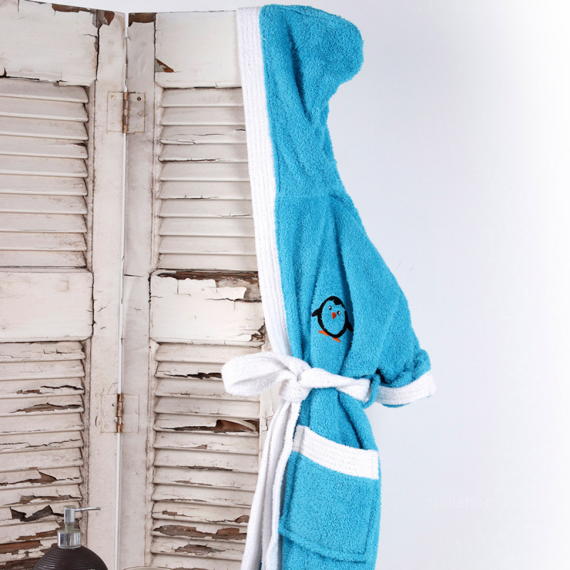 Παιδικό Μπουρνούζι Sb Home Icey Turquoise