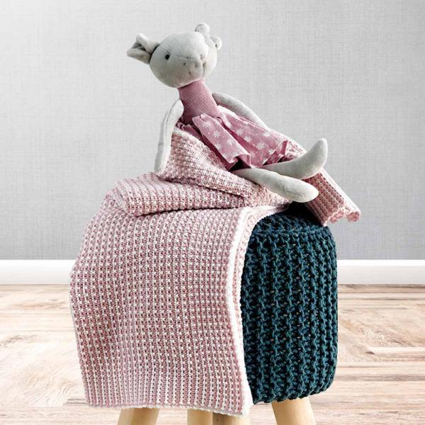 Κουβέρτα Πλεκτή Αγκαλιάς Sb Home Baby Serina Pink