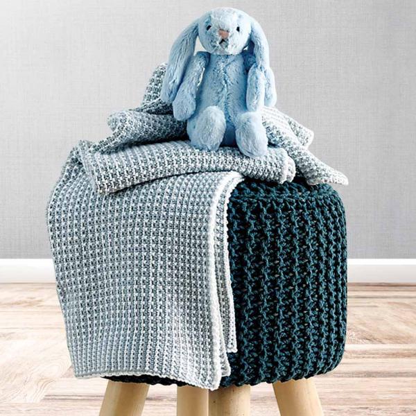Κουβέρτα Πλεκτή Αγκαλιάς Sb Home Baby Serina Blue