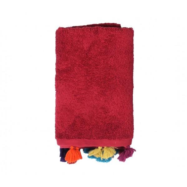 Πετσέτα Προσώπου (50x90) Nef-Nef Joy Bordo
