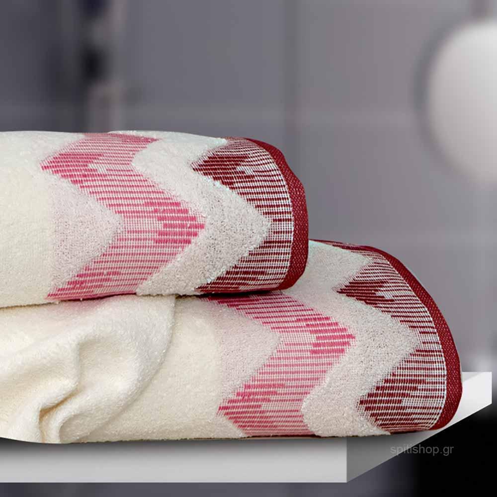 Πετσέτα Προσώπου (50×90) Sb Home Manon Dusty Pink