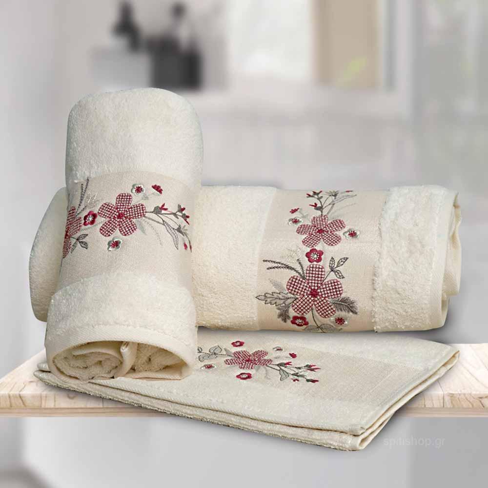 Πετσέτες Μπάνιου (Σετ 3τμχ) Sb Home Carmen
