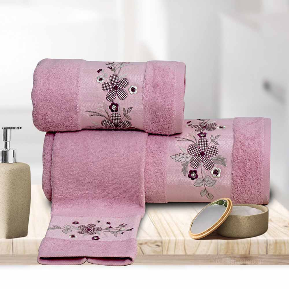 Πετσέτες Μπάνιου (Σετ 3τμχ) Sb Home Claudia