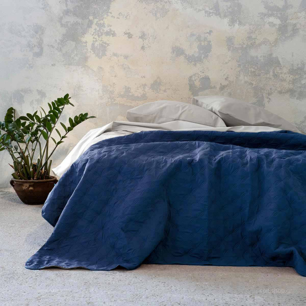 Κουβερλί King Size 2 Όψεων Nima Bed Linen Cuento Blue