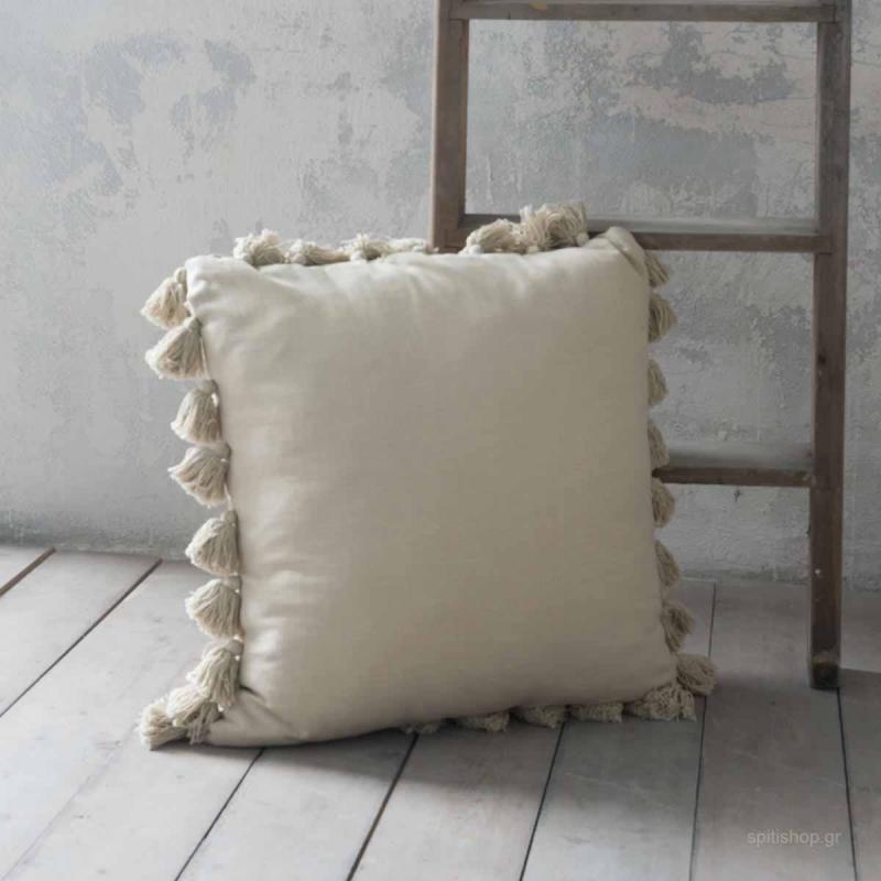 Διακοσμητικό Μαξιλάρι (65x65) Nima Deco Lieve Beige