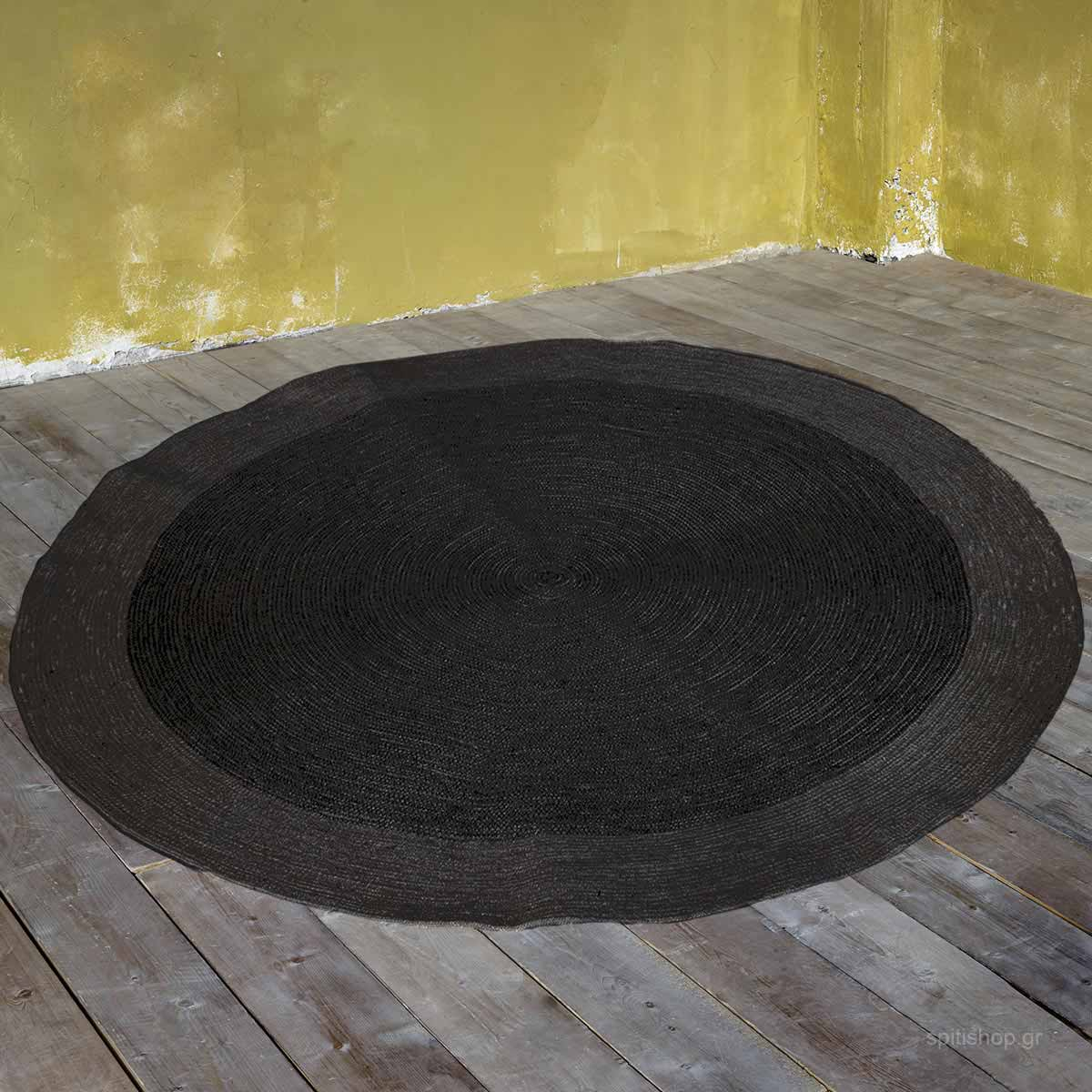 Στρογγυλό Χαλί Καλοκαιρινό (Φ120) Nima Deco Bergren Grey