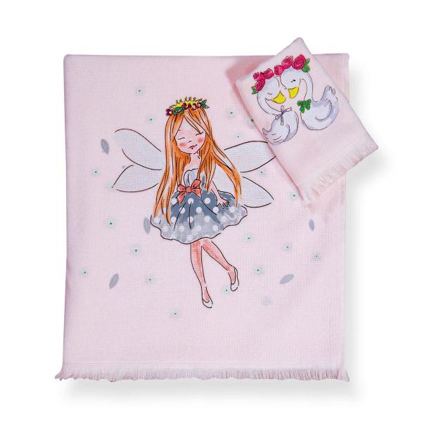 Παιδικές Πετσέτες (Σετ 2τμχ) Nef-Nef Junior Swan Love