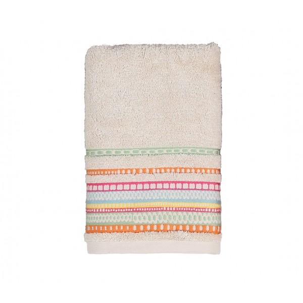 Πετσέτα Προσώπου (50x90) Nef-Nef Cadena Ecru