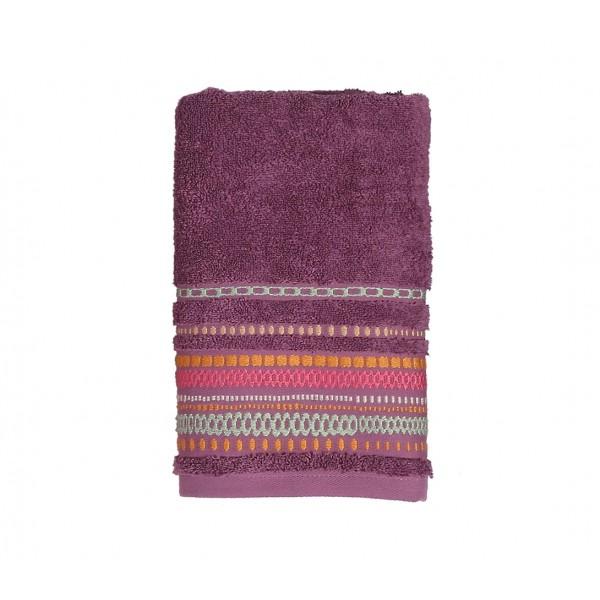 Πετσέτα Προσώπου (50x90) Nef-Nef Cadena Mauve