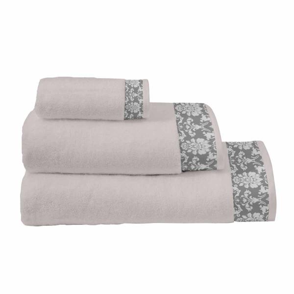 Πετσέτες Μπάνιου (Σετ 3τμχ) Makis Tselios Baroc Grey