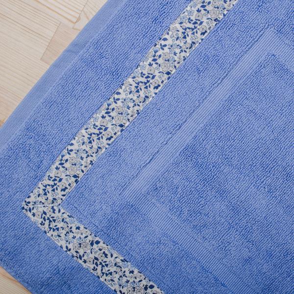 Πετσετέ Πατάκι Μπάνιου White Fabric Nerida Blue