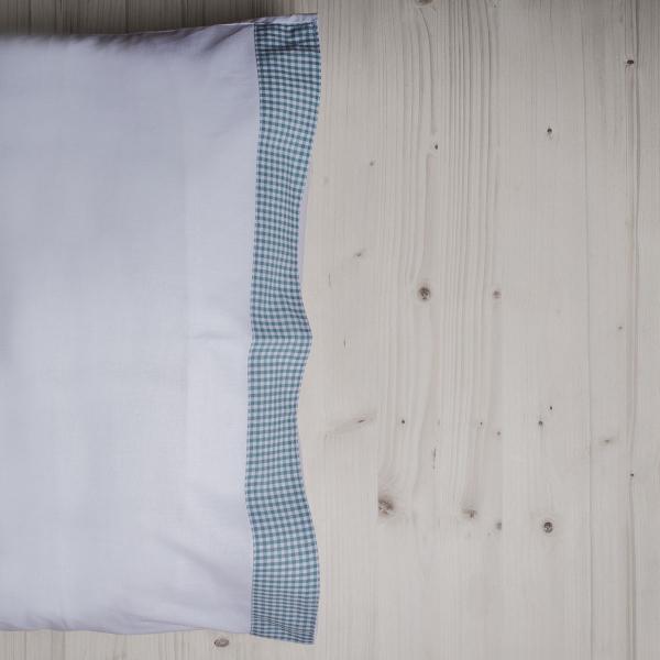 Ζεύγος Μαξιλαροθήκες White Fabric Gingham Green
