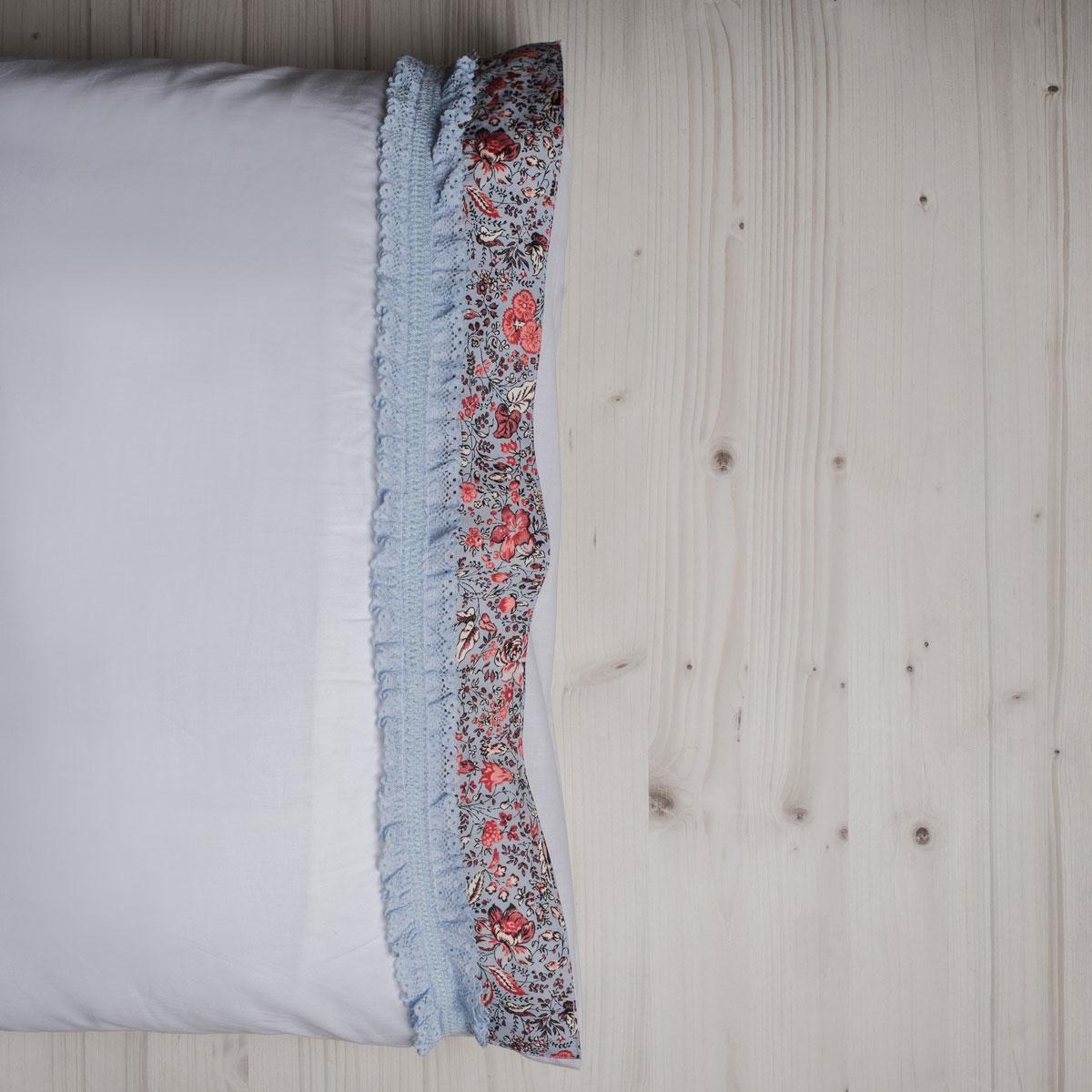 Ζεύγος Μαξιλαροθήκες White Fabric Sasha White