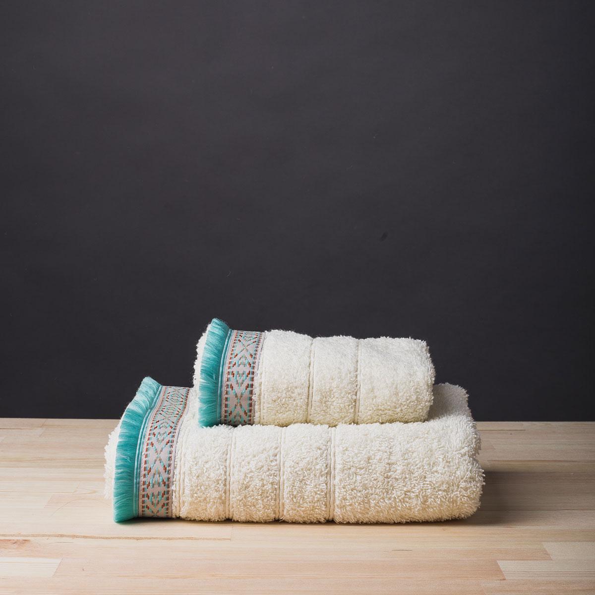 Πετσέτα Προσώπου (50×90) White Fabric Viola Ecru