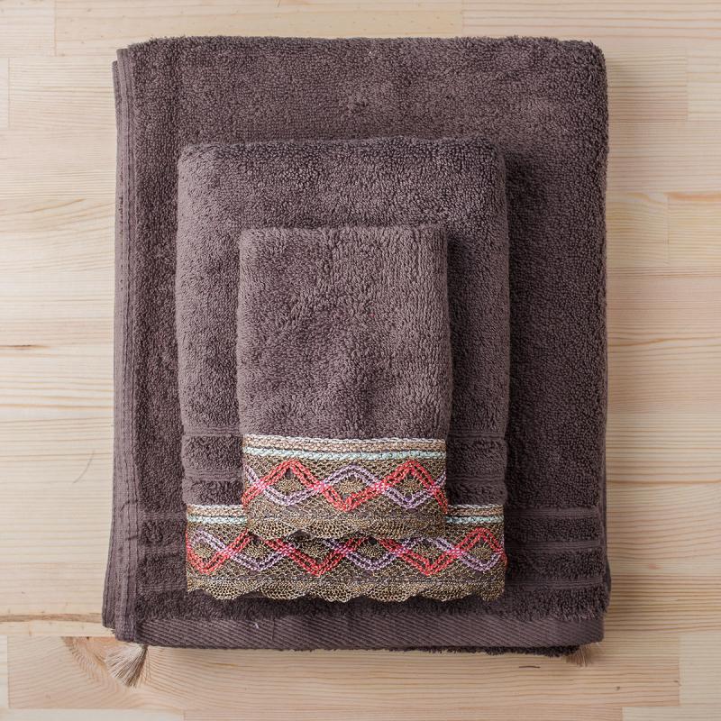 Πετσέτα Χεριών (30x50) White Fabric Kali Beige