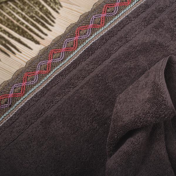Πετσέτα Προσώπου (50x90) White Fabric Kali Beige