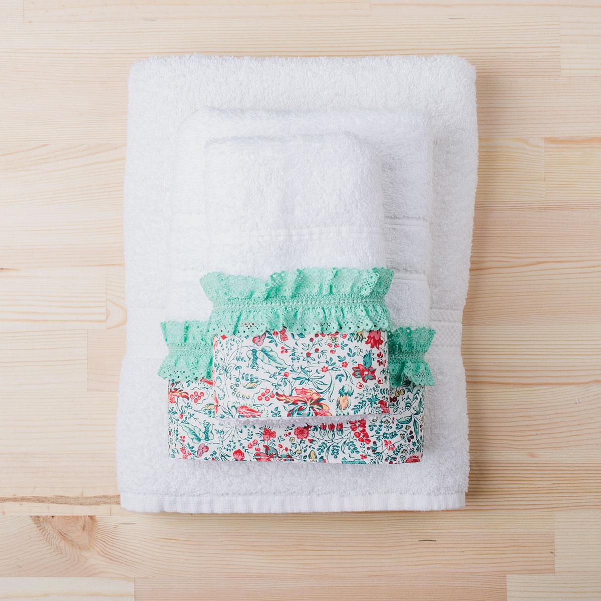 Πετσέτες Μπάνιου (Σετ 3τμχ) White Fabric Primore White