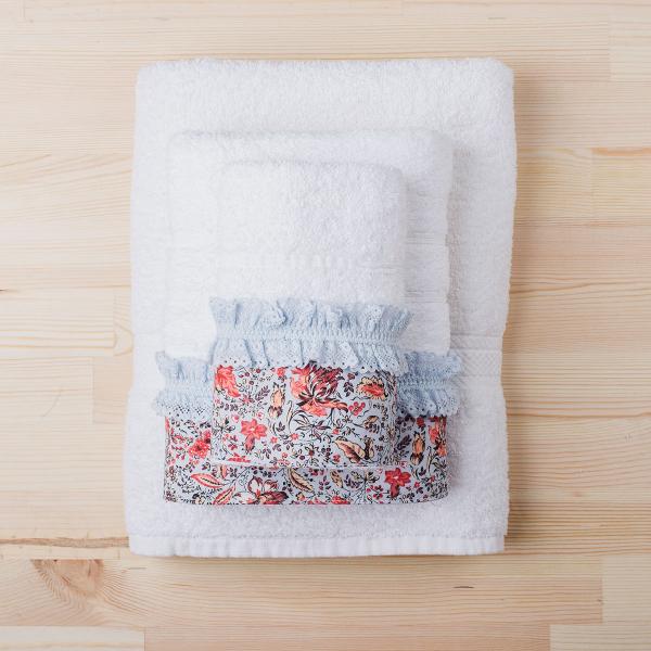 Πετσέτα Σώματος (70x140) White Fabric Sasha White