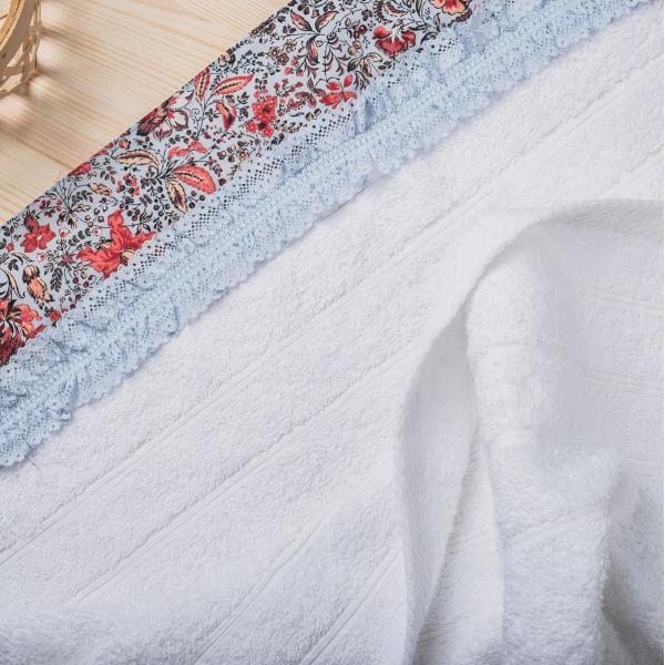 Πετσέτες Μπάνιου (Σετ 3τμχ) White Fabric Sasha White