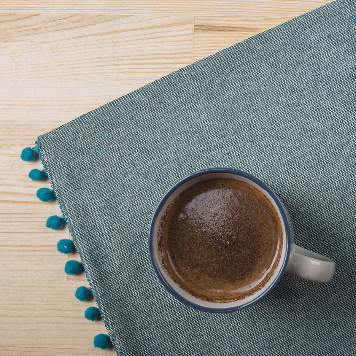 Σουπλά (Σετ 2τμχ) White Fabric Nelli Blue