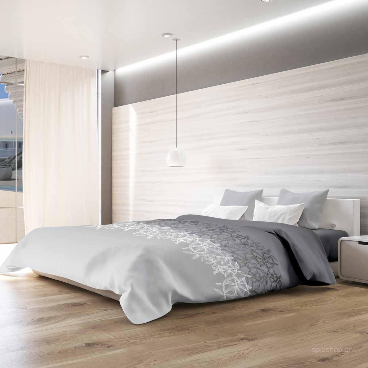 Σεντόνια Υπέρδιπλα (Σετ) Makis Tselios Toscana Grey ΜΕ ΛΑΣΤΙΧΟ 160×200+20 ΜΕ ΛΑΣΤΙΧΟ 160×200+20