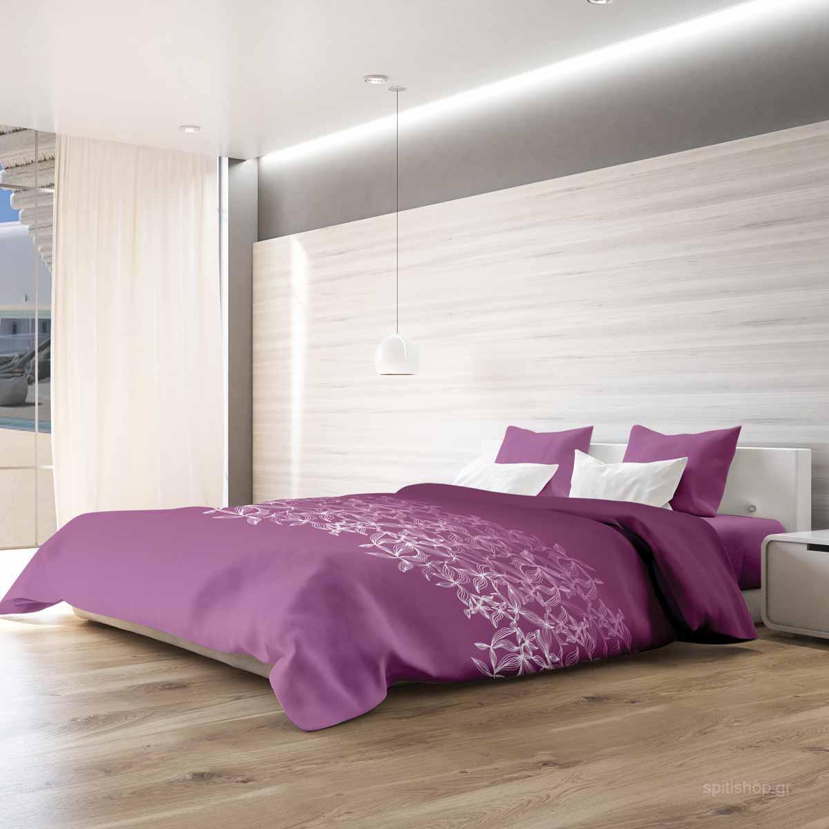 Σεντόνια King Size (Σετ) Makis Tselios Toscana Pink ΧΩΡΙΣ ΛΑΣΤΙΧΟ 265×280 ΧΩΡΙΣ ΛΑΣΤΙΧΟ 265×280