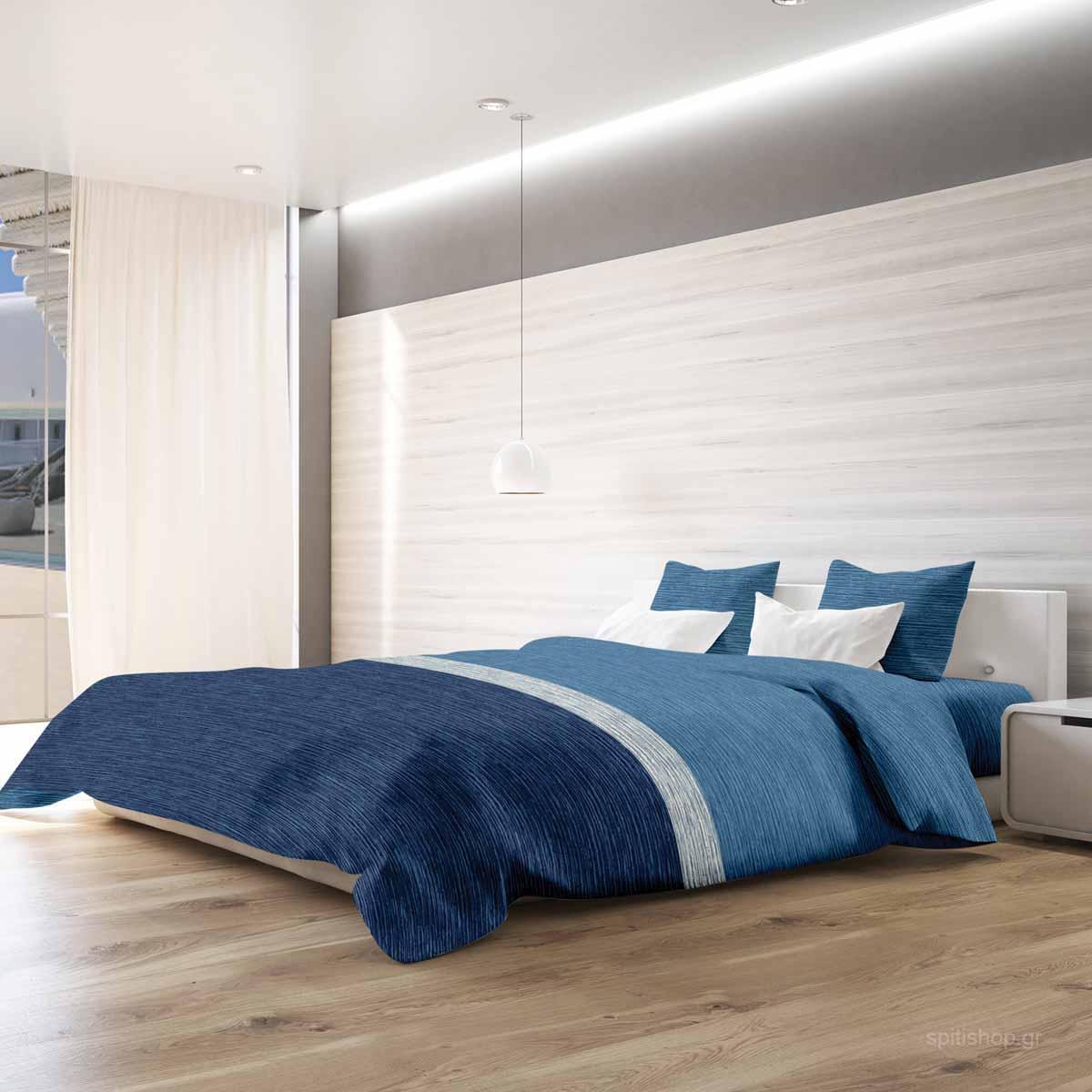 Σεντόνια King Size (Σετ) Makis Tselios Exotica Blue ΧΩΡΙΣ ΛΑΣΤΙΧΟ 265×280 ΧΩΡΙΣ ΛΑΣΤΙΧΟ 265×280