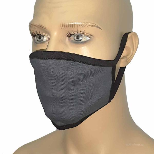 Μάσκα Προστασίας Υφασμάτινη San Lorentzo 015 Grey/Black