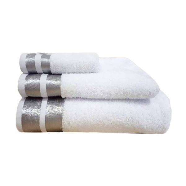 Πετσέτες Μπάνιου (Σετ 3τμχ) Makis Tselios Ice Λευκό