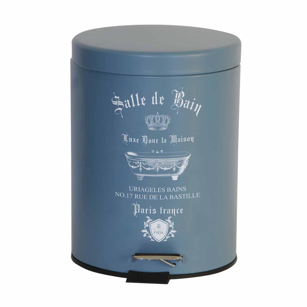Κάδος Απορριμμάτων (20×28) Estia 5Lit Le Bain Blue Matt 02-4675