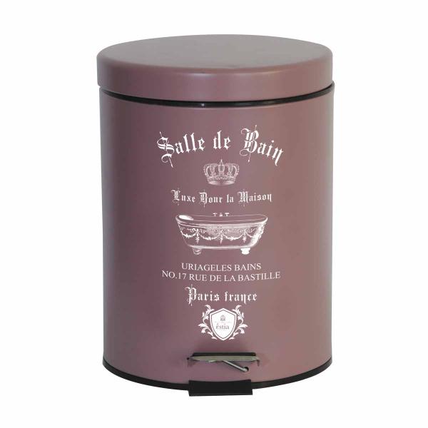 Κάδος Απορριμμάτων (20x28) Estia 5Lit Le Bain Rose Matt 02-4668