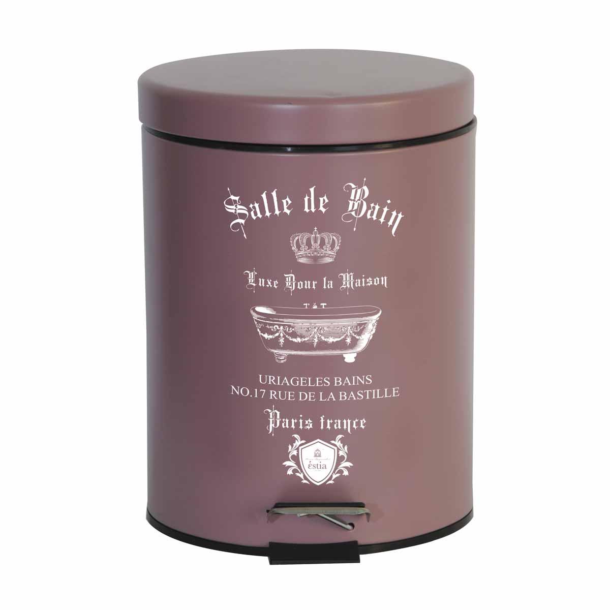 Κάδος Απορριμμάτων (20×28) Estia 5Lit Le Bain Rose Matt 02-4668