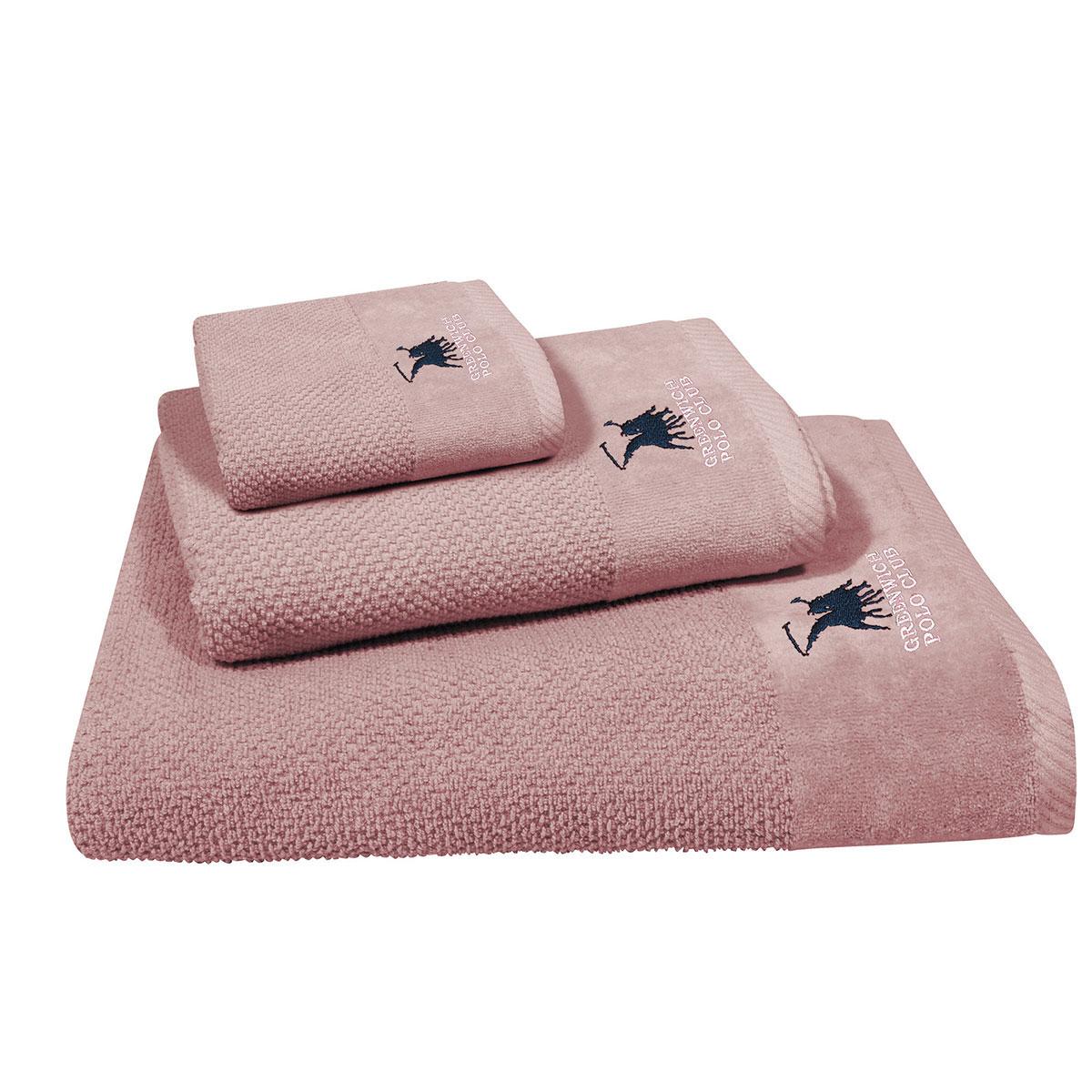 Πετσέτες Μπάνιου (Σετ 3τμχ) Polo Club Essential 2543 Pink