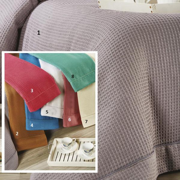 Κουβέρτα Πικέ Μονή White Egg L013