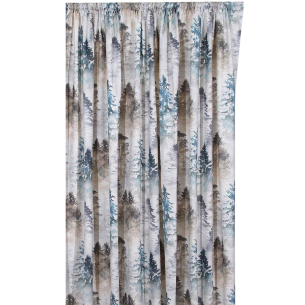 Κουρτίνα (140x270) Με Τρέσα Anna Riska Forest Lake Blue
