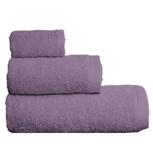 Πετσέτες Μπάνιου (Σετ 3τμχ) Vielen 866099 Λιλά