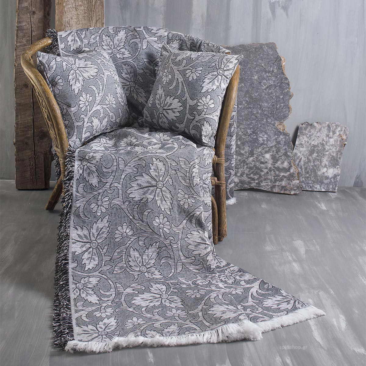 Ριχτάρι Διθέσιου (180×240) Rythmos Agnes 01 Grey