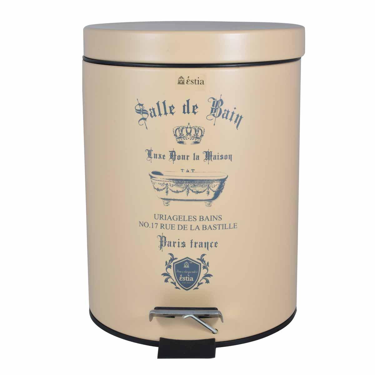 Κάδος Απορριμμάτων (20×28) εstia 5Lit Le Bain Cream Matt 02-4651