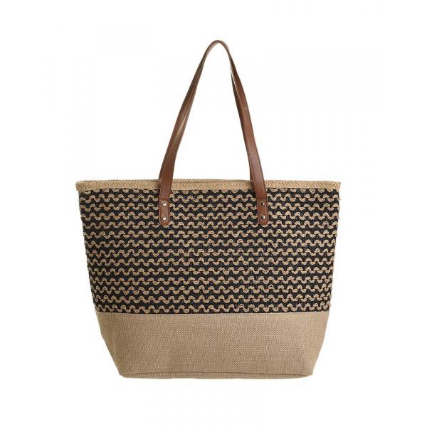 Ψάθινη Τσάντα Θαλάσσης InArt 5-42-051-0046