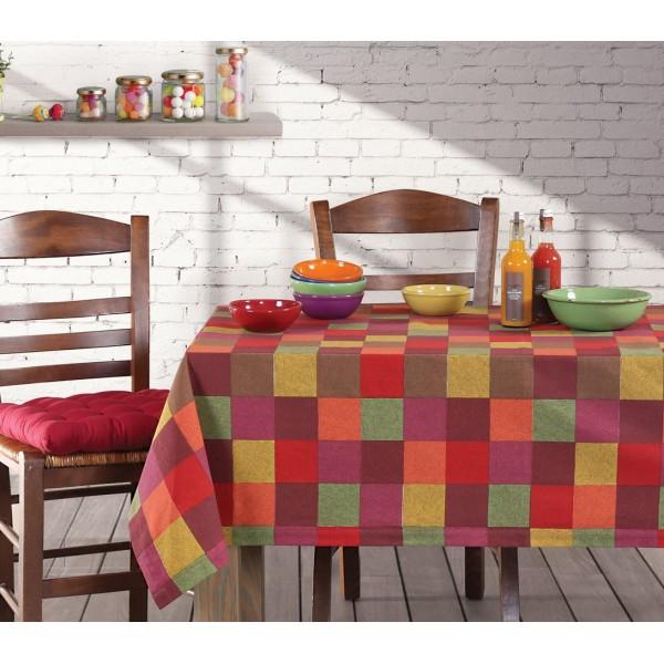 Τραπεζομάντηλο (140x140) Nef-Nef Kitchen Maroon