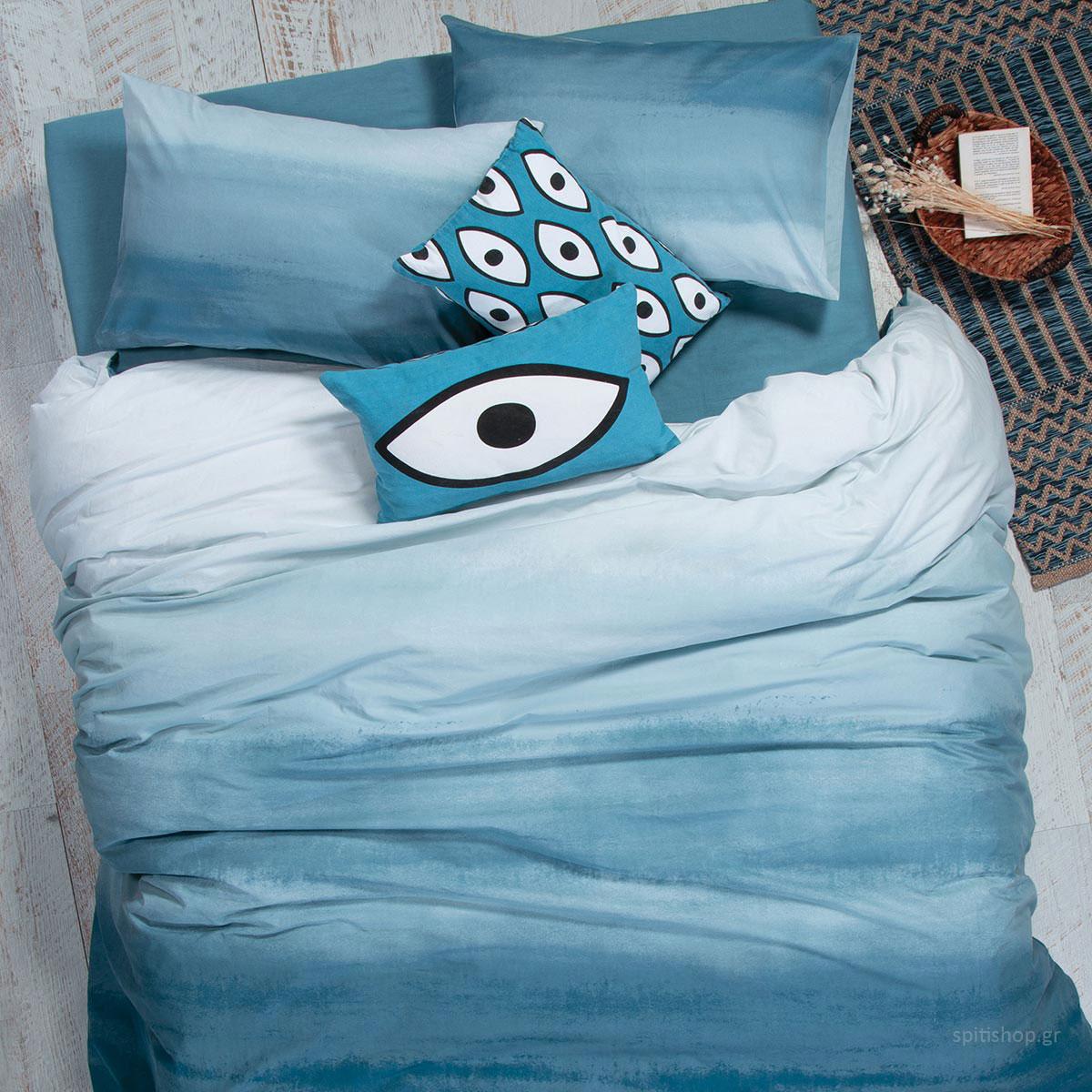Σεντόνια Υπέρδιπλα (Σετ) Nef-Nef Blue Collection Ocean Blue