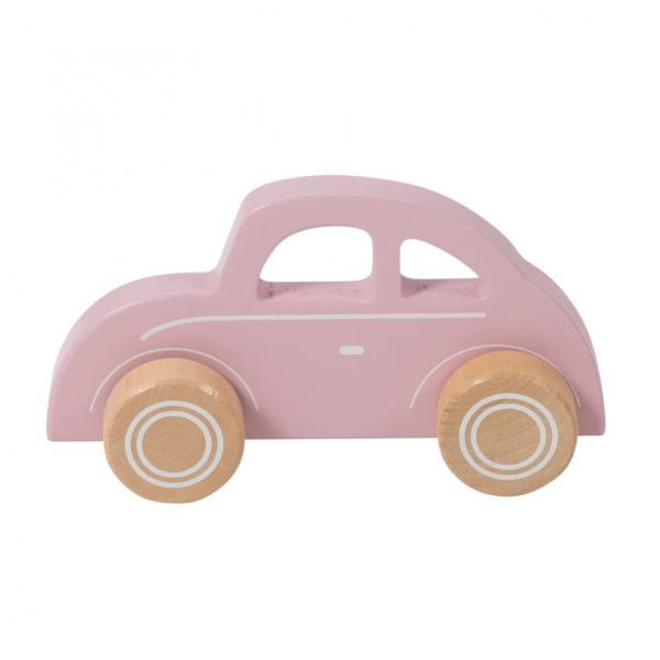 Ξύλινο Παιχνίδι Little Dutch Αυτοκινητάκι Ροζ LD4375