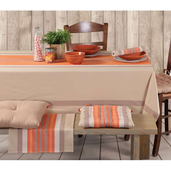 Τραπεζομάντηλο (140x140) Nef-Nef Kitchen Rules Beige/Orange