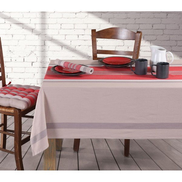 Τραπεζομάντηλο (140x140) Nef-Nef Kitchen Rules Grey/Red