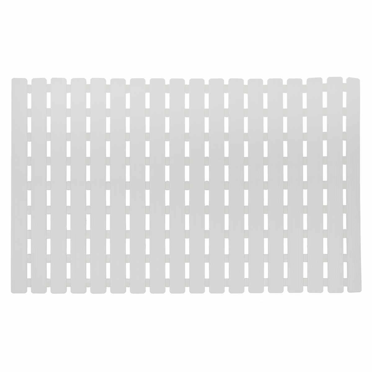 Αντιολισθητικό Πατάκι Μπανιέρας Estia Strings White 02-7416