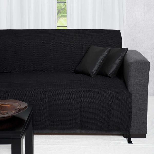 Ριχτάρι Πολυθρόνας (180x180) Silk Fashion 9925 Μαύρο